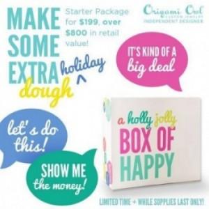 Origami Owl HOLLY JOLLY BOX of HAPPY