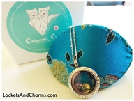 Origami Owl take out box with locket