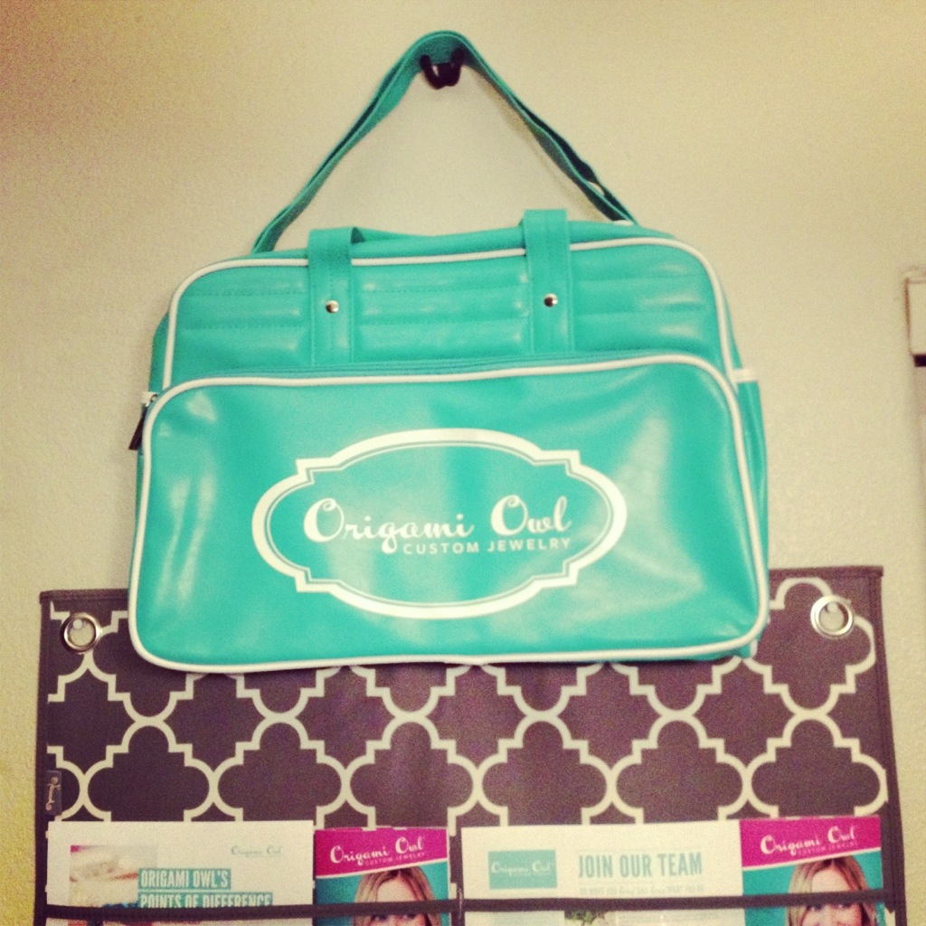Origami Owl Aqua Blue Bag
