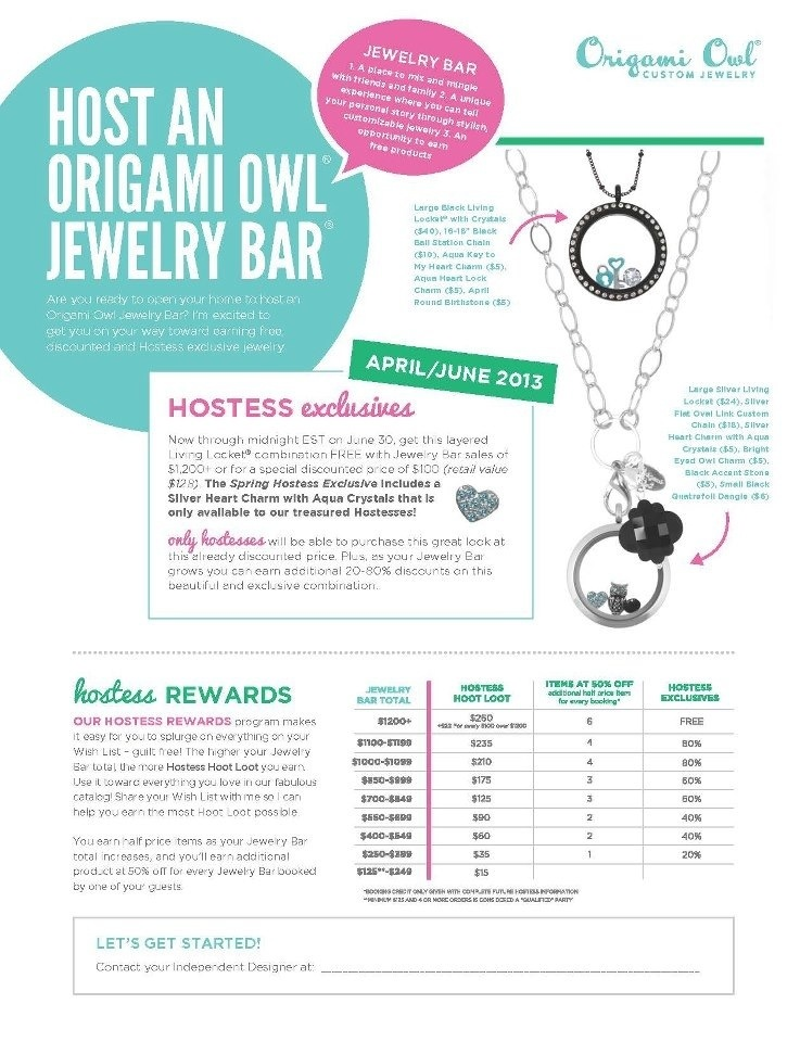 Spring Summer Origami Owl Hostess Exclusives + Hoot Loot 2013.jpg