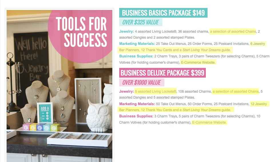 Updated Business Packages Spring Summer 2013 Origami Owl