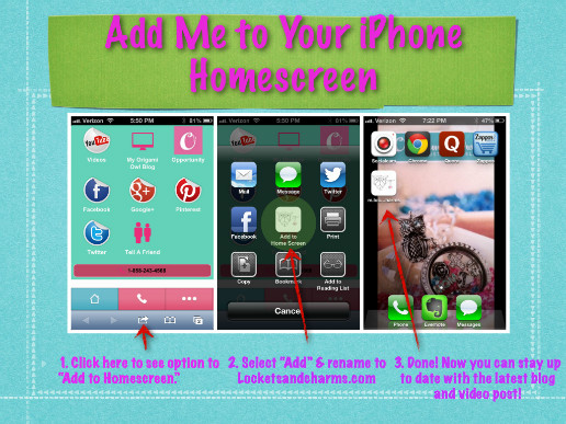 Add mobile app to iphone and ipad homescreen