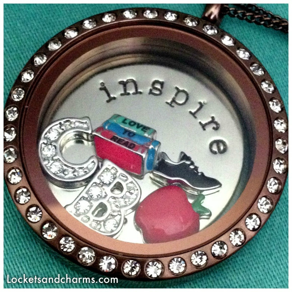 origami owl large chocolate colored customizable locket