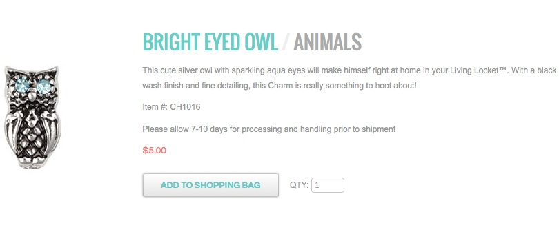 bright eyed owl locketsandcharms.origamiowl.com