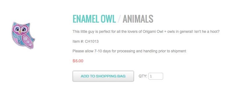 enamel owl locketsandcharms.origamiowl.com