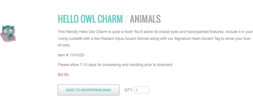hello owl charm locketsandcharms.origamiowl.com