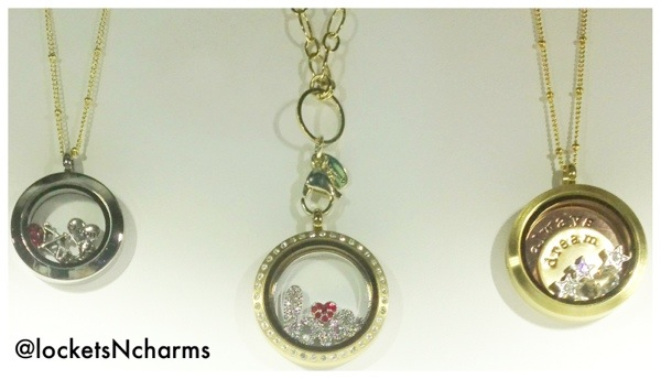 3 Origami Owl lockets