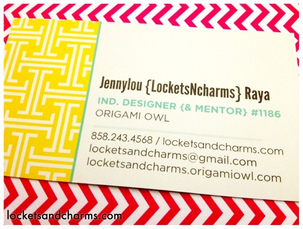Origami Owl business card