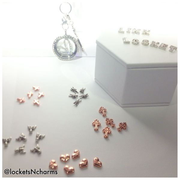 Origami Owl rose gold and silver charms