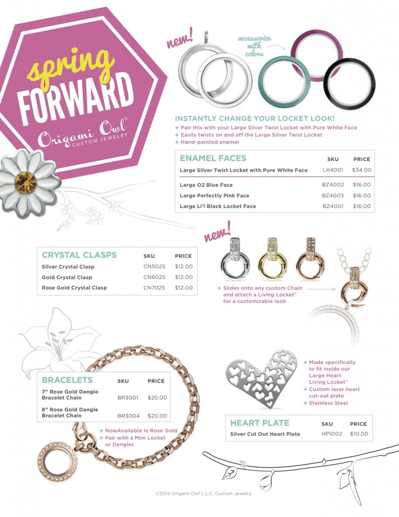 An addition to charms - new lockets, new plates, new clasps, new bracelets!