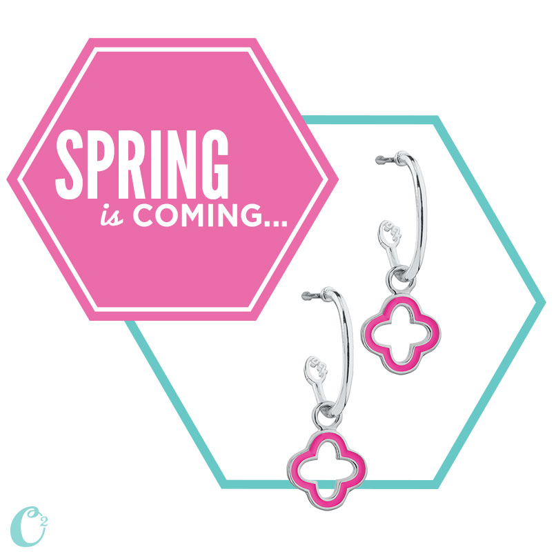 Necklaces, bracelets, and now earrings too!  Now, you're ears can also get in on the action of the o2 look!