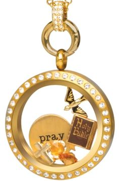 Origami Owl Gold Prayer Locket