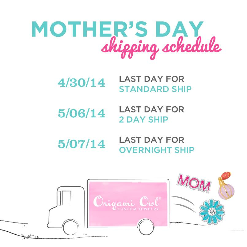 Origami Owl Mothers Day Shipping 2014