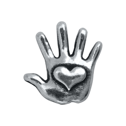Lend a hand to some very special children in need. Add this Silver Heart Hand Charm to your Living Locket® and profits from the sale will protect a child through the Childhelp Speak Up Be Safe program. Make a strong statement by including the Protected Tag on your creation.