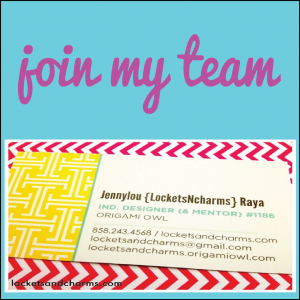 Join Origami Owl with Executive Team Leader Jennylou Raya ID 1186
