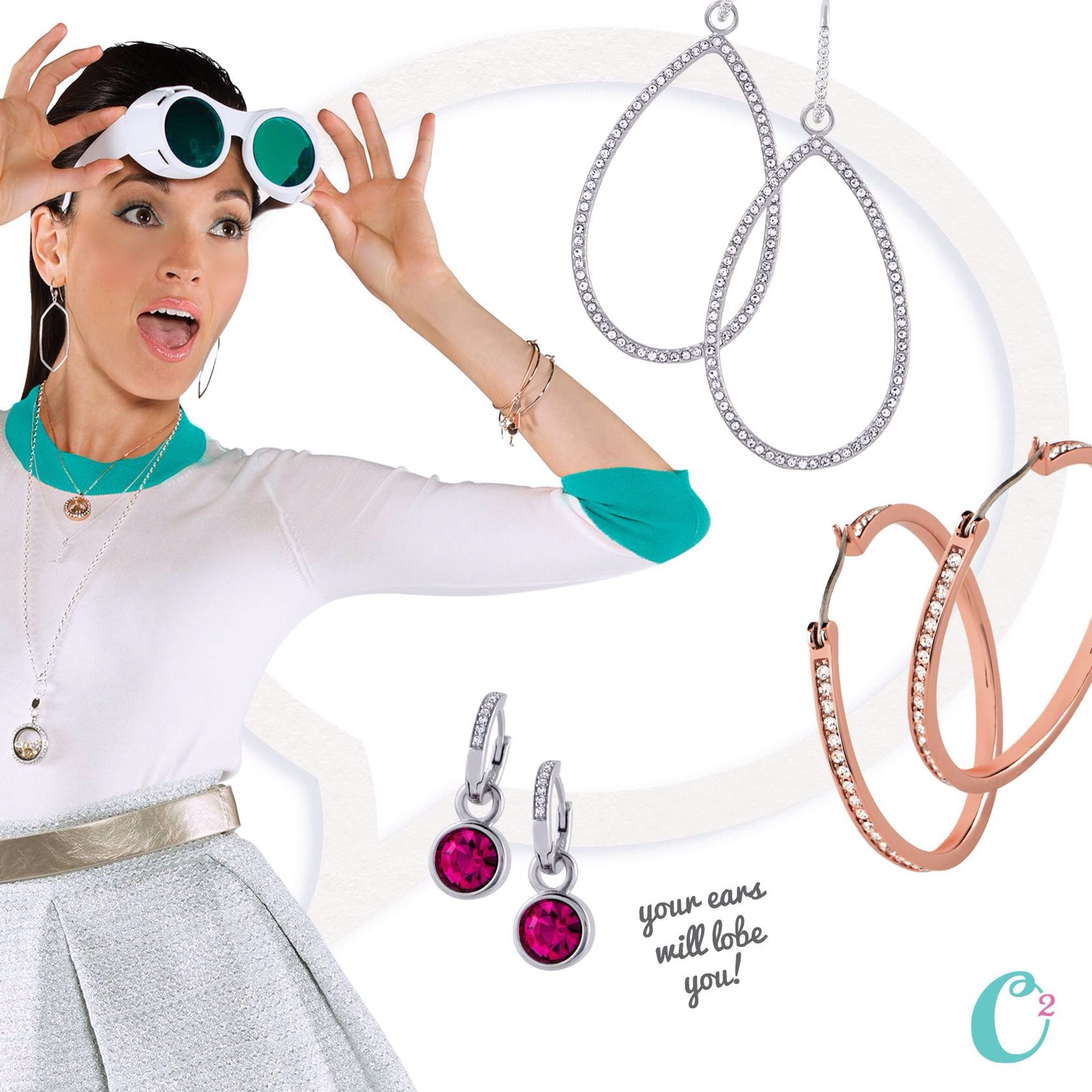 Origami Owl Fall 2014 Hoop Earrings
