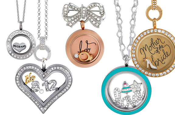 Origami Owl Bridal Collection Lockets Plates