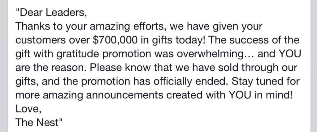 Gift of Gratitude Promotion has Ended
