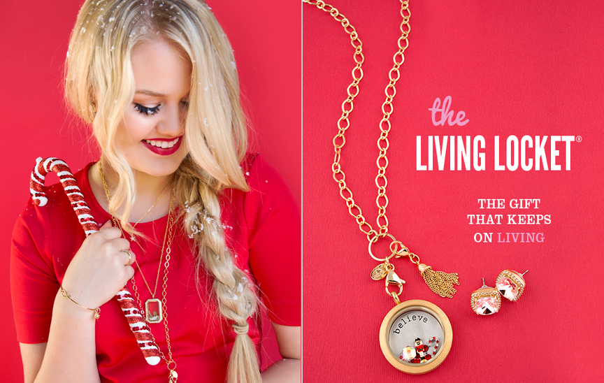 Origami Owl Gold Living Locket Christmas