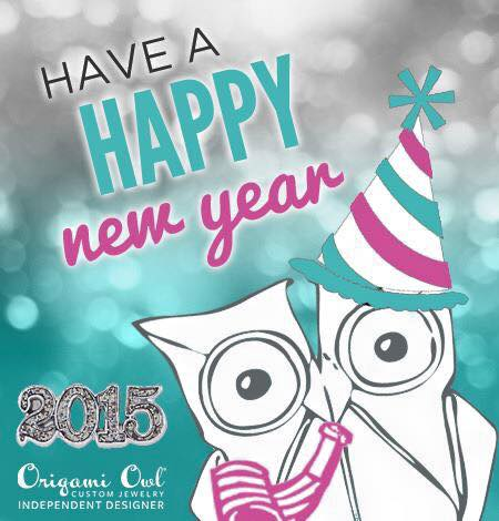 Happy New Year Owl Origami Owl