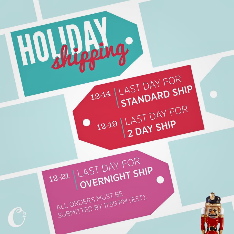 origami owl 2014 christmas holiday shipping deadline
