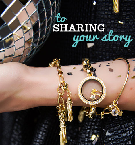 To Sharing Your Story Gold Locket Bracelet