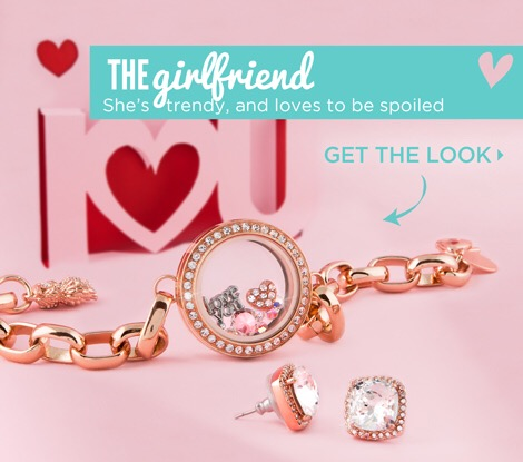 The Girlfriend rosegold bracelet locket and earrings love charms valentines 2015