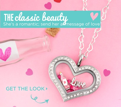 Medium Silver Heart Message in a Bottle Origami Owl