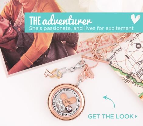 Rose Gold Locket Love is Patient Love is Kind Origami Owl Adventurer