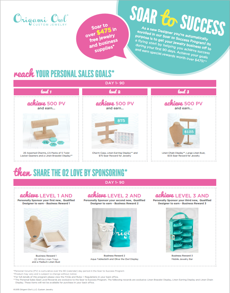 Soar to Success Origami Owl January 21, 2015