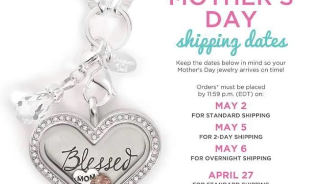Blessed Mothers Day Heart Origami Owl locket