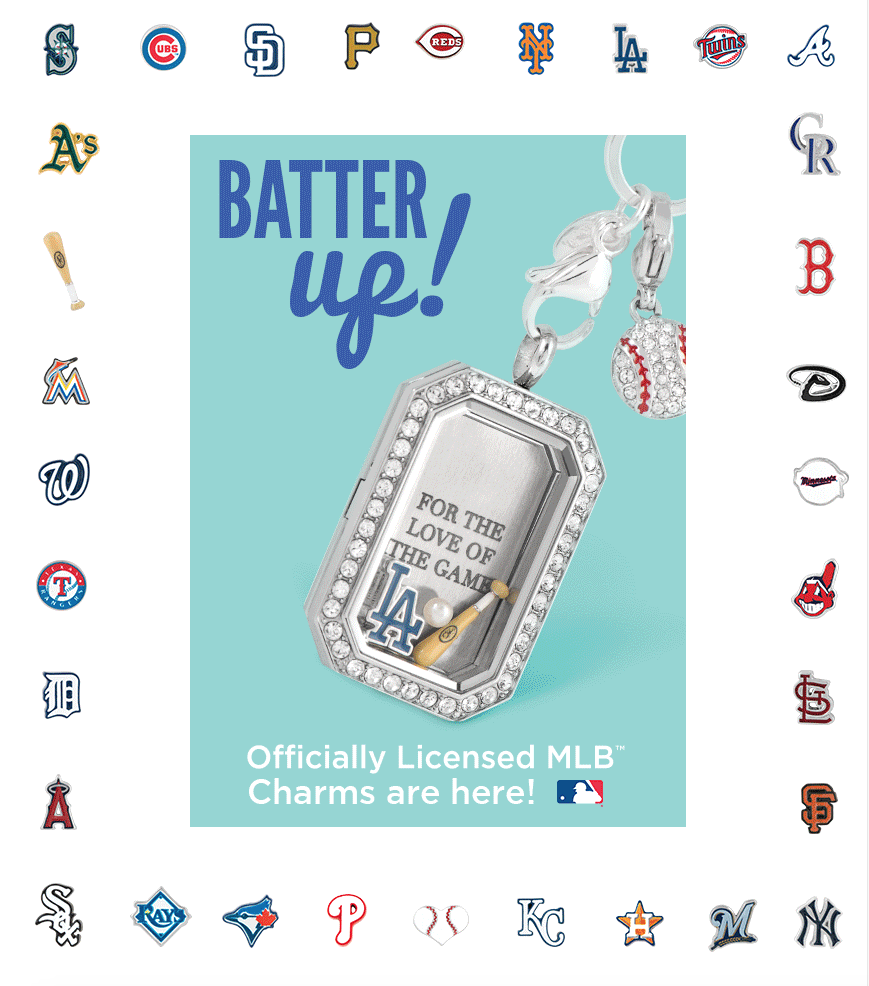 Mlb licensed charms from origami owl custom jewelry origami owl heritage locket in silver la dodgers charm pearl baseball bat jeuxipadfo Gallery