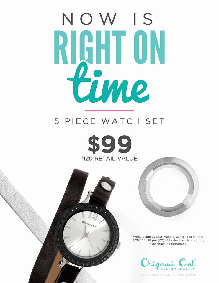 Origami Owl Watch Customer Special locketandcharms.com
